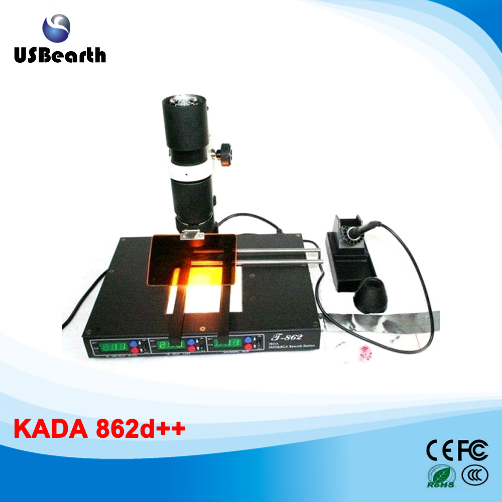 KADA 862d++ 4 in 1 BGA rework station full auto IRDA Infrared soldering station puhui t862 irda infrared bga rework station bga smd desoldering rework station free tax to eu