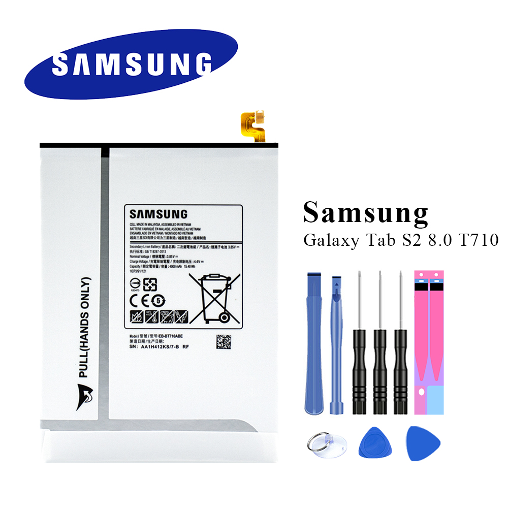 Original Samsung Tablet Battery EB BT710ABE For Samsung Galaxy Tab S2 8.0 SM T710 T715 T715C T719C 4000mAh+Tools kit Mobile Phone Batteries     - title=