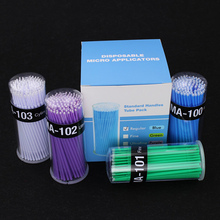 High Quality New Hot 100Pcs Box Dental Micro Brush Disposable Materials Tooth Applicators Sticks Oral Hygiene Teeth Care cheap Cotton Swab Micro Brushes Plastic Length 10cm Blue green purple