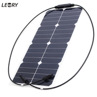 LEORY 18V 25W Sun Power Solar Panel Bank Auto Flexible Car Photovoltaic Solar Cells Energy Battery Charger For RV Camp Boat .