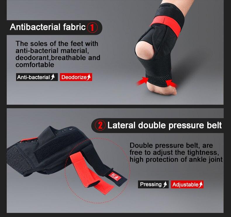 Kuangmi 2 pc tornozelo suporte cinta guarda