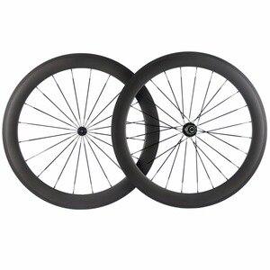 Image 4 - Factory Sales 700C Carbon Wheelset Tubular 38mm 50mm 60mm 88mm Carbon Bicycle Wheels Clincher Road Bike Wheels Basalt Braking