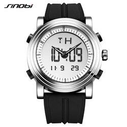 Reloj deportivo SINOBI, relojes de pulso deportivos, reloj Quartz digital de 2 movimientos, reloj impermeable, reloj cronografo masculino de la mejor marca de lujo