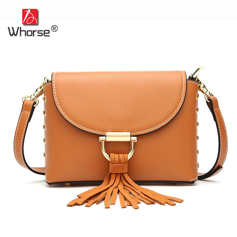 New Fashion Tassel Criss-Cross Design Genuine Leather Messenger Bags Small Womens Cowhide Crossbody Shoulder Bag For Women W0982 plus criss cross mix