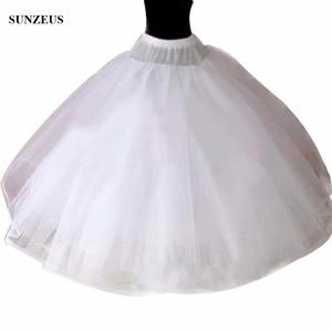 Image 1 - Hoopless 8 Layers Hard Tulle Wedding Petticoats Luxury Princess Quinceanera Dresses Underskirt Long Crinoline Tulle S40
