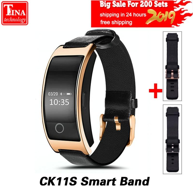CK11S banda inteligente presión arterial Monitor de ritmo cardíaco reloj de pulsera inteligente pulsera de Fitness Tracker podómetro pulsera