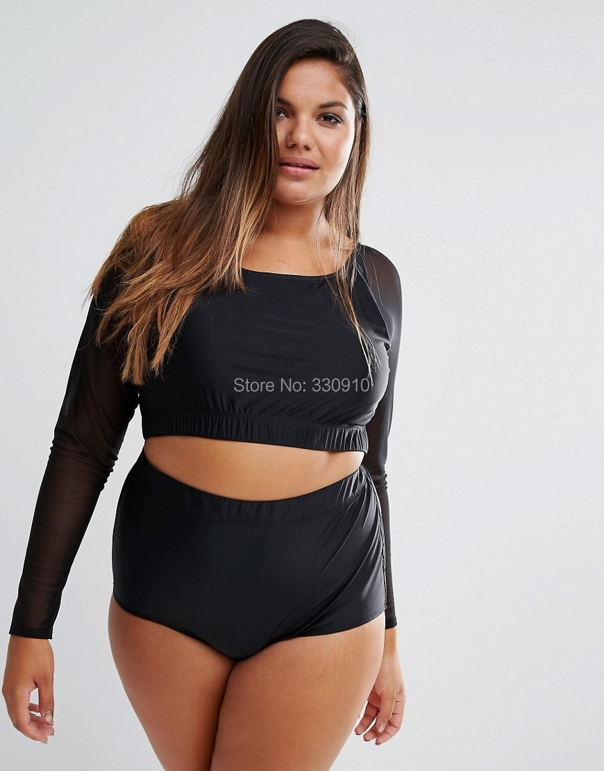 Long Sleeve Plus Size Swimwear