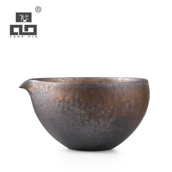 TANGPIN ceramic tea infusers handmade tea pitcher chahai chinese kung fu tea accessories tangpin copper tea strainers handmade copper tea filters kung fu tea accessories