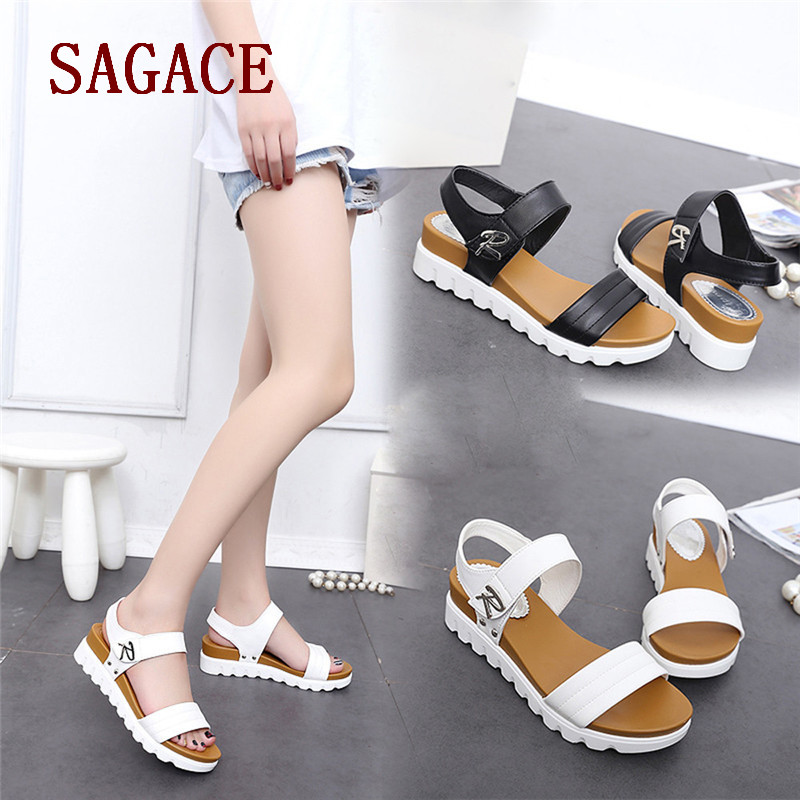 Summer Sandals Women Aged Flat Fashion Sandals Comfortable Ladies Shoes p# dopship 2018 new summer women sandals shoes fashion comfortable girls sandals footwear flat sexy causal ladies solid women shoes est1009