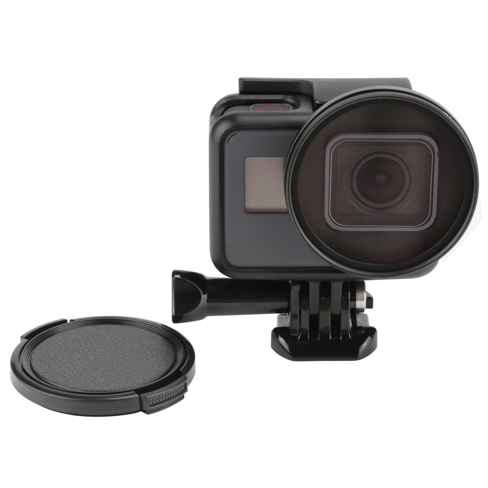 SHOOT 52mm Diameter Professional UV Filter for Gopro Hero 6 5 Black Edition Camera with Lens Cover Go Pro 6 5 Camera Accessories