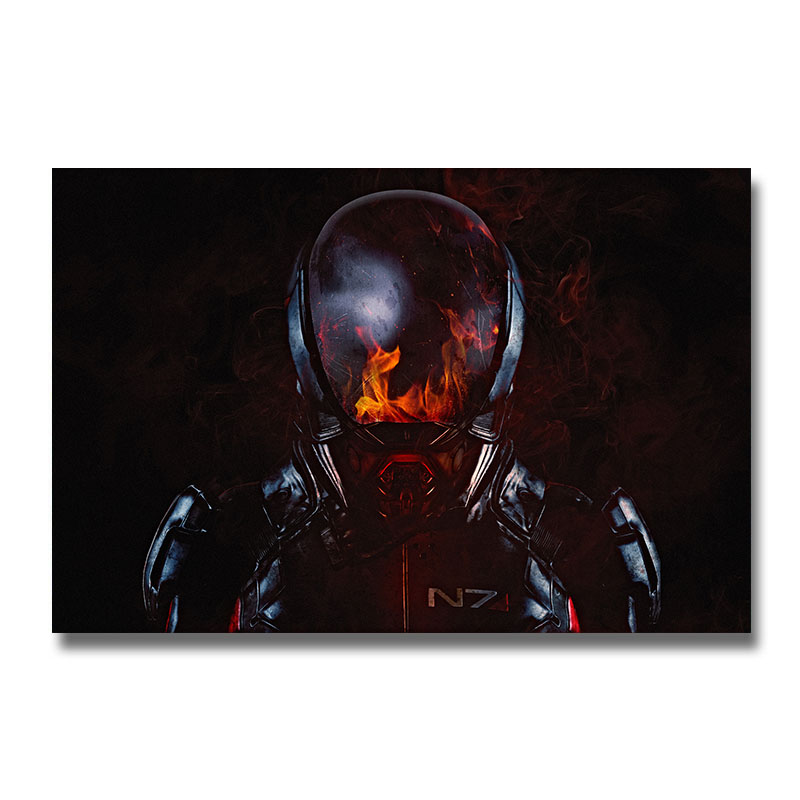 Mass Effect 2 3 4 Game Silk Poster Wall Art Print 12x18 24x36 inch Decorative Pictures Wallpaper Living Room Decoration 003(China)