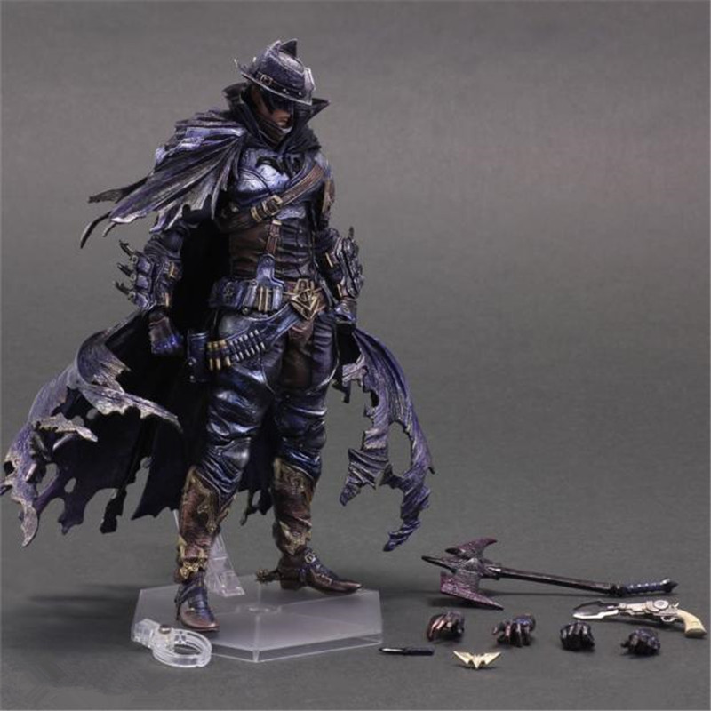 Playarts KAI Batman Wild West Figurine Brinquedos PVC Action Figure Collectible Model Doll Kids Toys 28cm playarts kai batman arkham knight batman blue limited ver superhero pvc action figure collectible model boy s favorite toy 28cm