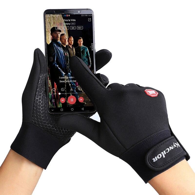 Kyncilor riding gloves outdoor waterproof touch screen winter warming velvet windbreak mountain climbing protective gear
