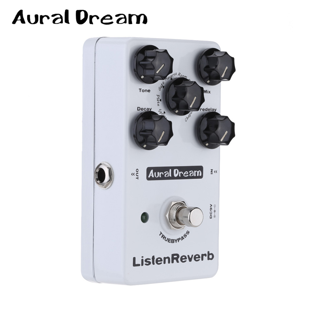 Aural Dream Listen Reverb Guitar Effect Pedal with 8 Controling Algorithms Five knobs  True Bypass mooer ensemble queen bass chorus effect pedal mini guitar effects true bypass with free connector and footswitch topper