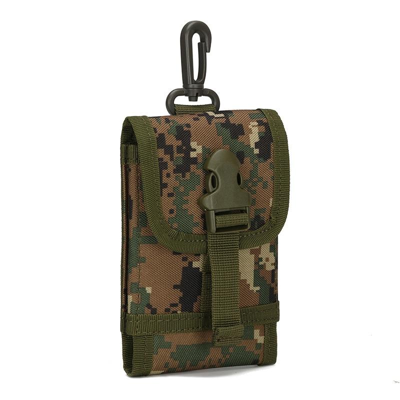 MOLLE System <font><b>Tactical</b></font> Accessory Bag Climbing Bags D-ring <font><b>Holder</b></font> Drawstring Pouch <font><b>Phone</b></font> Bag for Army Travel Hiking Hunting