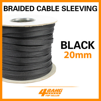 157ft  Expandable Wire Cable Sleeving Guide Electrical Wire Sleeves 20mm Black