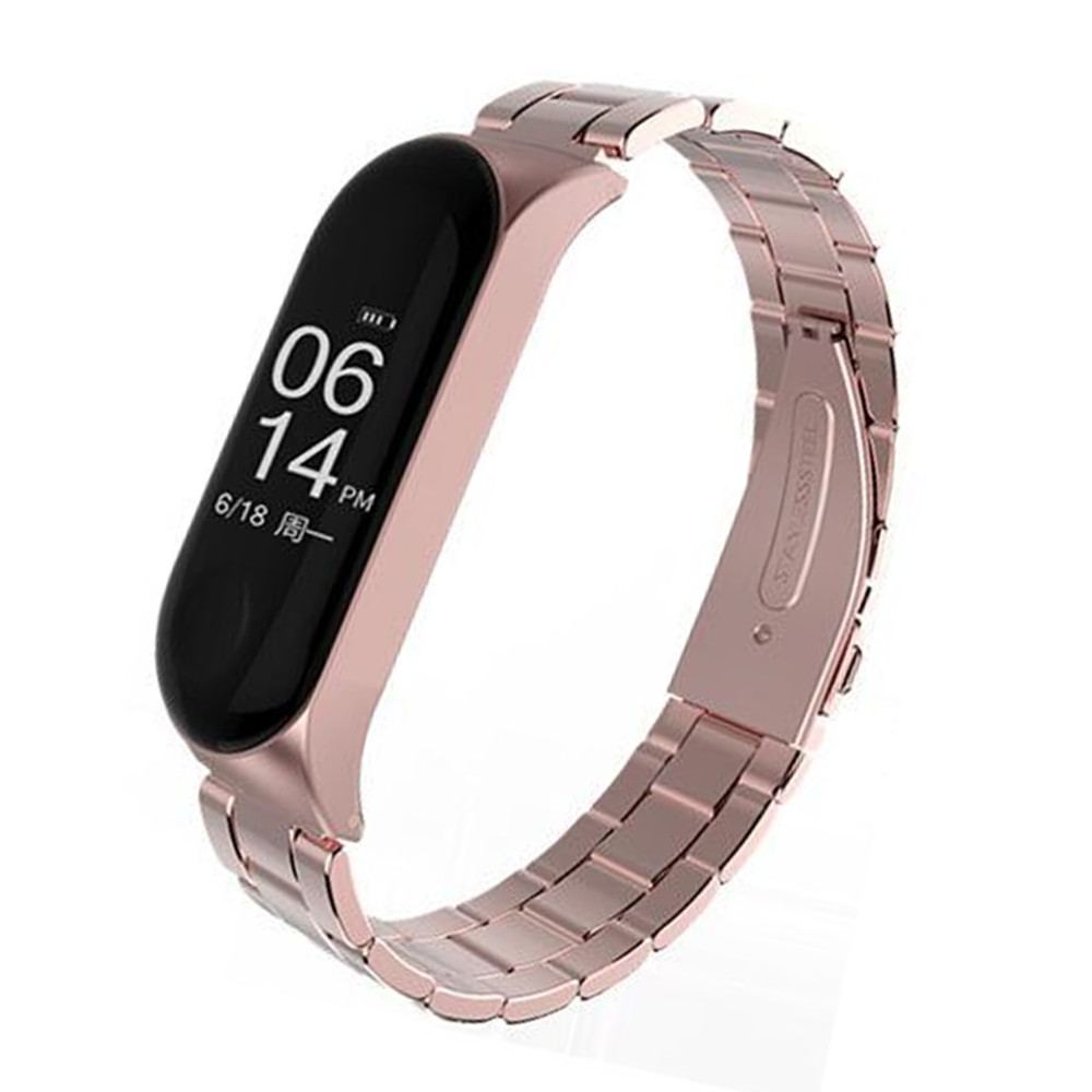 Mi Band 3 strap Screwless Bracelet wrist Mi band3 Smart Band Strap MiBand3 Wristband black Metal for xiaomi Mi Band 3 Strap цена и фото