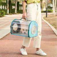 Breathable Clear Pet Carrier Handbag Shoulder Crossbody Bag for Small Dog Cat