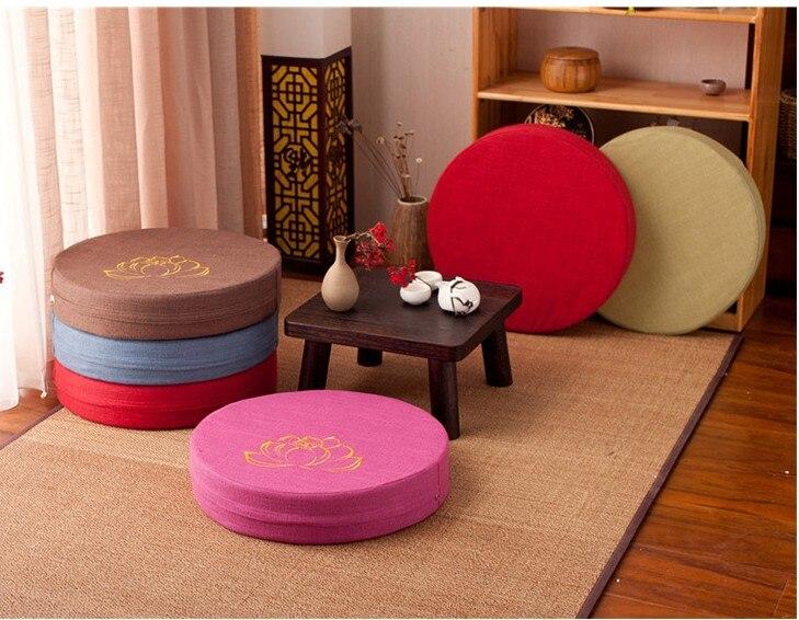 HTB1vJRQe8Kw3KVjSZFOq6yrDVXa2 Japanese-style futon worship Buddha sitting cushion fabric washable round linen balcony window tatami mat meditation lotus
