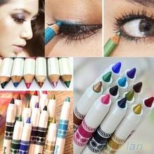 12 Colors Cosmetic Glitter Eye Shadow Lip Liner Eyeliner Pencil Pen Makeup Set  1V7H 4E4F