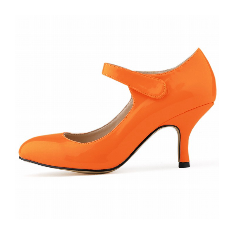 14 Colors Brand Woman High Heels Pumps Women Patent Leather Wedding Shoes Ankle Buckle 6CM NLK-C0021