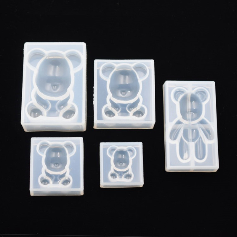 SNASAN Silicone Mold A Sitting Bear Resin Silicone Mould Handmade DIY  Resin Jewelry Making Epoxy Resin Molds