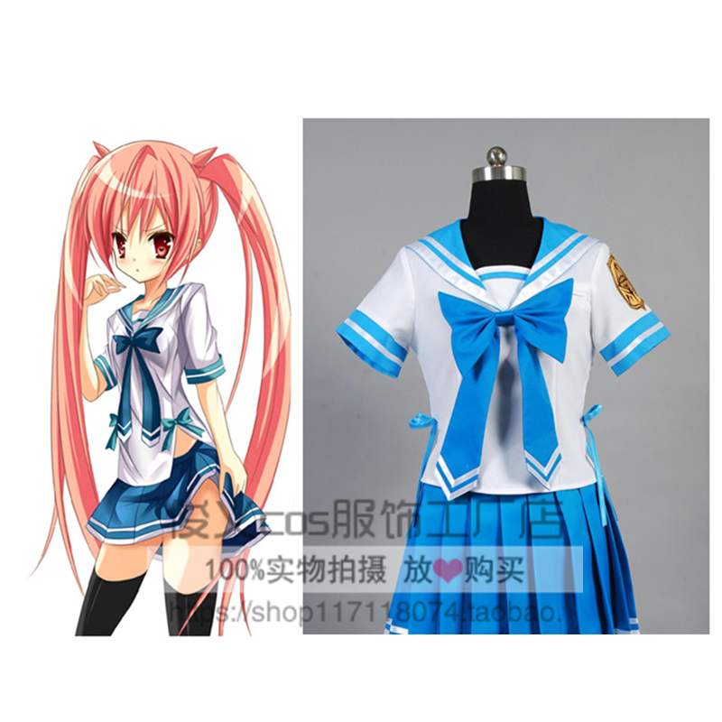 Anime hidan no aria Aria the Scarlet Ammo cosplay Kanzaki Holmes Aria Kanzaki  H. Aria cos girl summer Japanese school uniforms 7dd6e454305f