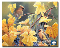 Diamond Mosaic Pattern Mural Crystals Yellow Leaf Birds Diamond Embroidery Square Needlework Cross Stitch Kits Bead