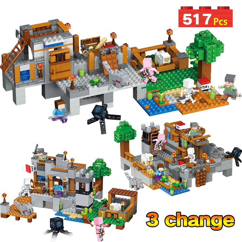 My World Harbor Wharf Building Blocks Educational For Toddlers Clever Construction Toys Compatible LegoINGLYS Minecrafter