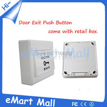 Free shipping WholeSale Door Exit Push Release Button Switch Light wall switch for Electric Access Control with retail box