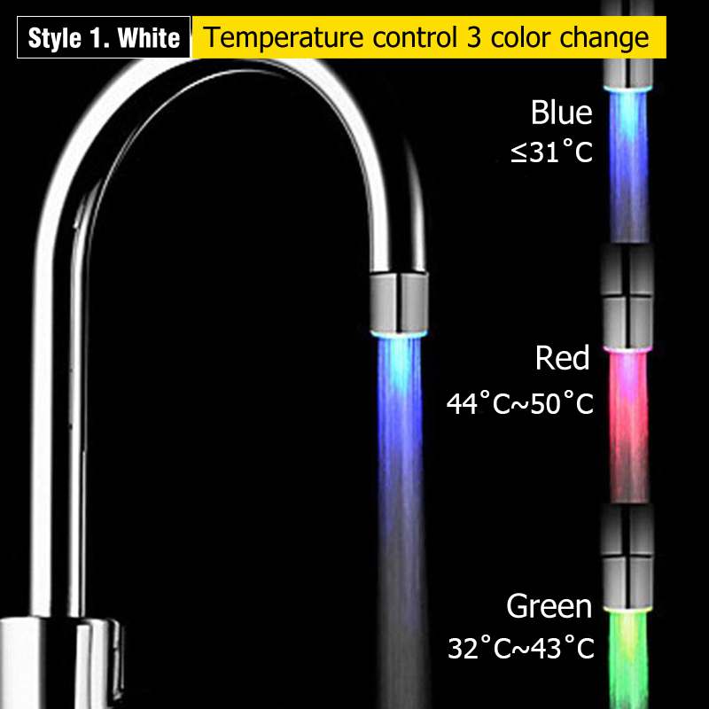 3 Style Water Stream Temperature Sensitive Sensor Bathroom
