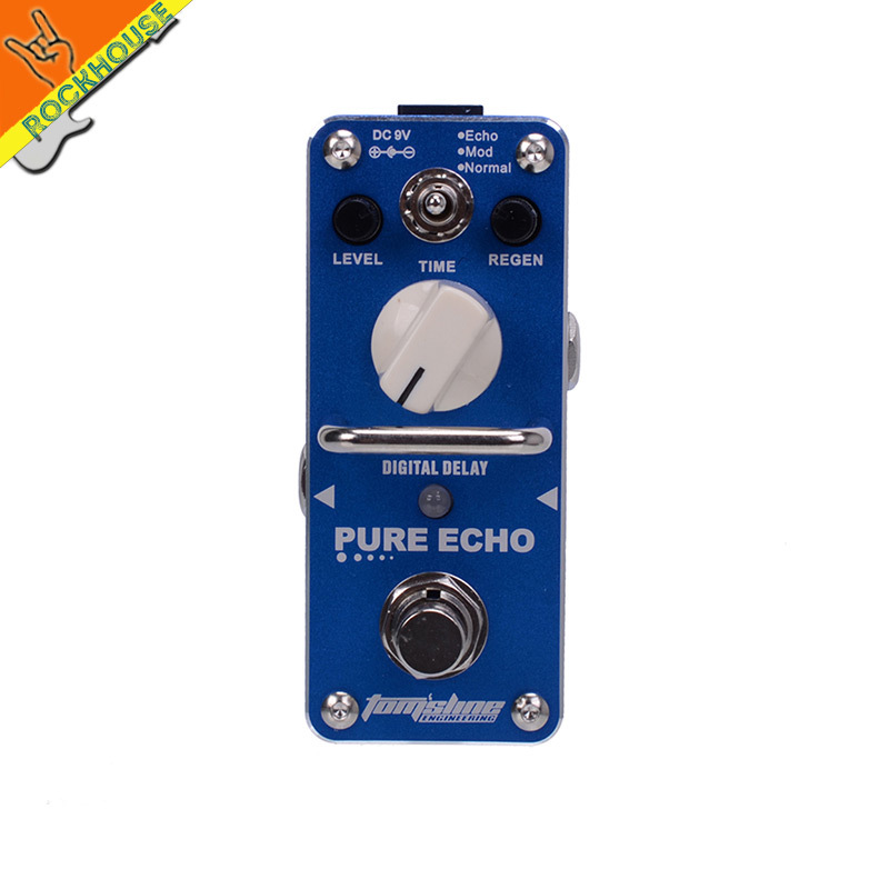 AROMA APE 3 PURE ECHO Digital Delay Guitarra Effect Pedal 3 Modes Echo Mod Normal Full
