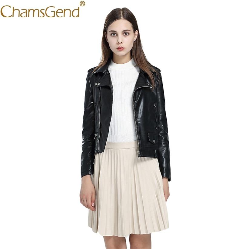 Le Bas Shipping En Noir Nouvellement Veste Zipper 71013 Femmes Manteau Femelle Vers Tournent Tops Chamsgend Conception Cuir Drop waUxq8XXY