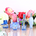 7PCS/Set Unique Blue Glass Women Refillable Perfume Bottle Atomizer Bulb Empty Atomizer Aftershave Makeup Cosmetic Containers