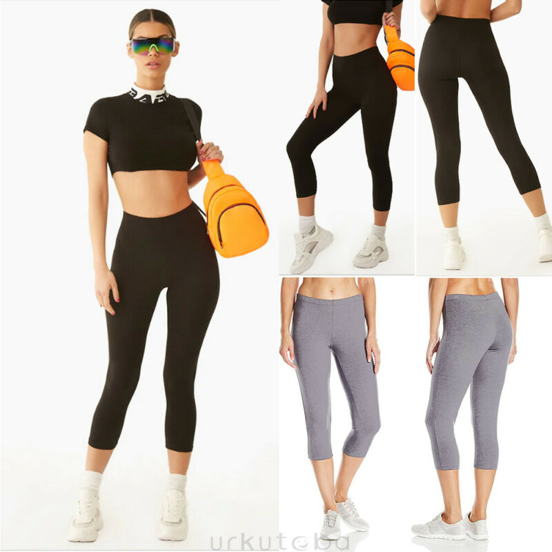 Women Sports Tights Capris Gym Slim Yoga Pants High Waist Stretch Workout Leggings Sportswear Clothes Fitness Trousers For Women
