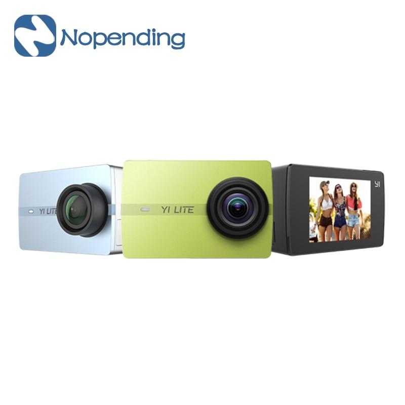 EM ESTOQUE!! New Original Xiaoyi YI Lite Esporte Da Ação Da Câmera 16MP Real 4 K WI-FI embutido BT 2' Tela LCD 150 Graus EIS para Xiaomi
