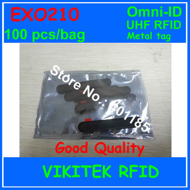 Omni-ID Exo 210 UHF RFID  metal tag 915M EPC C1G2 ISO18000-6C 100 pcs per bag Attachment to small industrial assets track Exo210 недорого