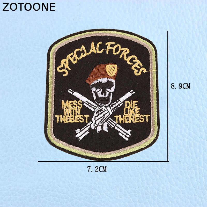 ZOTOONEยกเลิกAtomic BOMB Falloutแพทช์ทหารแพทช์ปักเหล็กบนBeautity Army Moraleยุทธวิธีสำหรับกระเป๋าแจ็คเก็ต