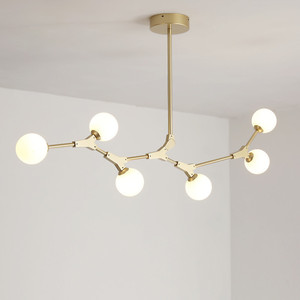 Image 5 - Postmodern LED chandelier living room suspended lighting Glass deco fixtures dining hanging lights Nordic bedroom pendant lamps