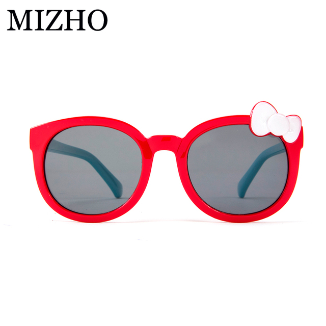 7bd7026a56 MIZHO Plastic Titanium HD Kid Sunglasses Girls Polarized UV Protection Bow  tie Sunglass Children High Quality Super-elastic soft