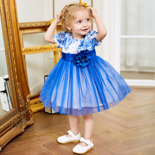 adorable toddler baby girls party birthday dress 2018 new style kids floral bow mesh tutu dress 12m-6y children clothes summer menoea girls dress 2017 new summer lolita style striped dress bow sleeveless turn down collar design for baby girls dress 2 6y