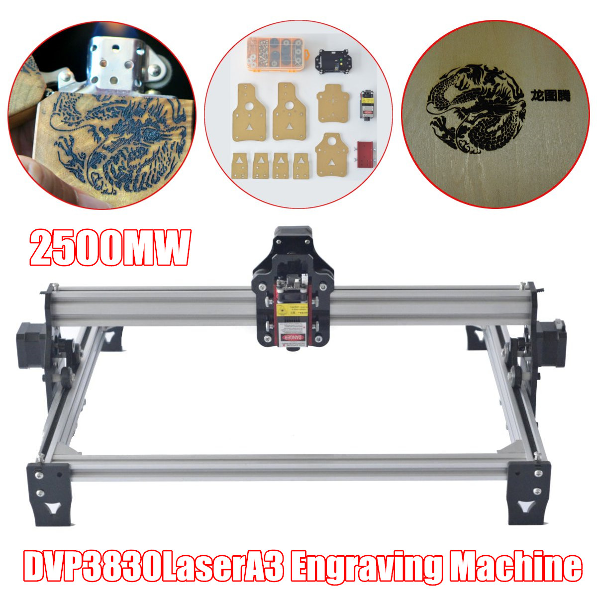 2500mw DVP 3830 Laser A3 Engraving Machine,Wood Router,laser cutter,DIY Laser Engraver Machine,cnc router,best Advanced toys цены
