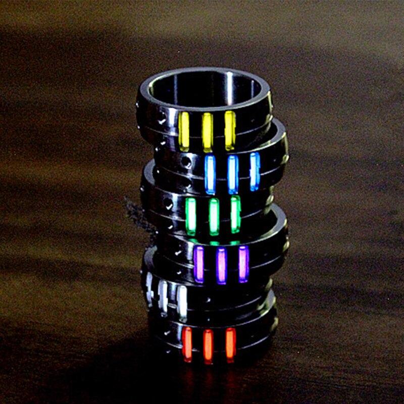 1 pc 20mm liga de titânio anel com tubo de trítio gás de trítio auto-luminoso edc luminoso anel multi ferramentas acessórios