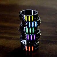 1PC 20mm pierścionek ze stopu tytanu z trytu rury gazu trytu samoświetlny EDC świecący pierścień narzędzia wielofunkcyjne akcesoria