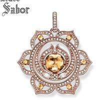 Pendant SPLENIC CHAKRA 925 Sterling Silver For Women Girls Bohemia Jewelry Gift Lucky Pendant Fit Link Necklace thomas