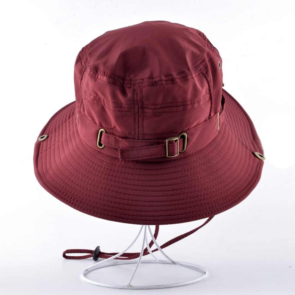 TQMSMY adjustable hats for women's Beach caps Quick-drying men Bucket Hat Unisex Summer Panama bone girls Anti-UV Fishings cap