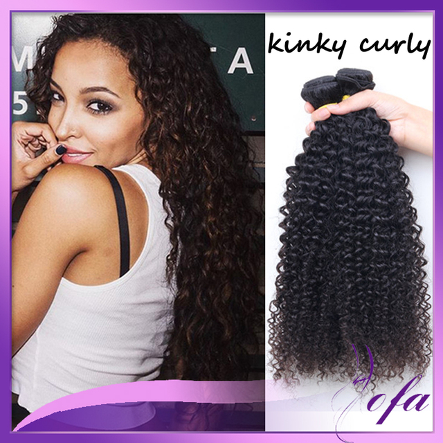 Raw Peruvian Afro Kinky Curly Hair Weave Aofa Tight Weft 3 Bundles