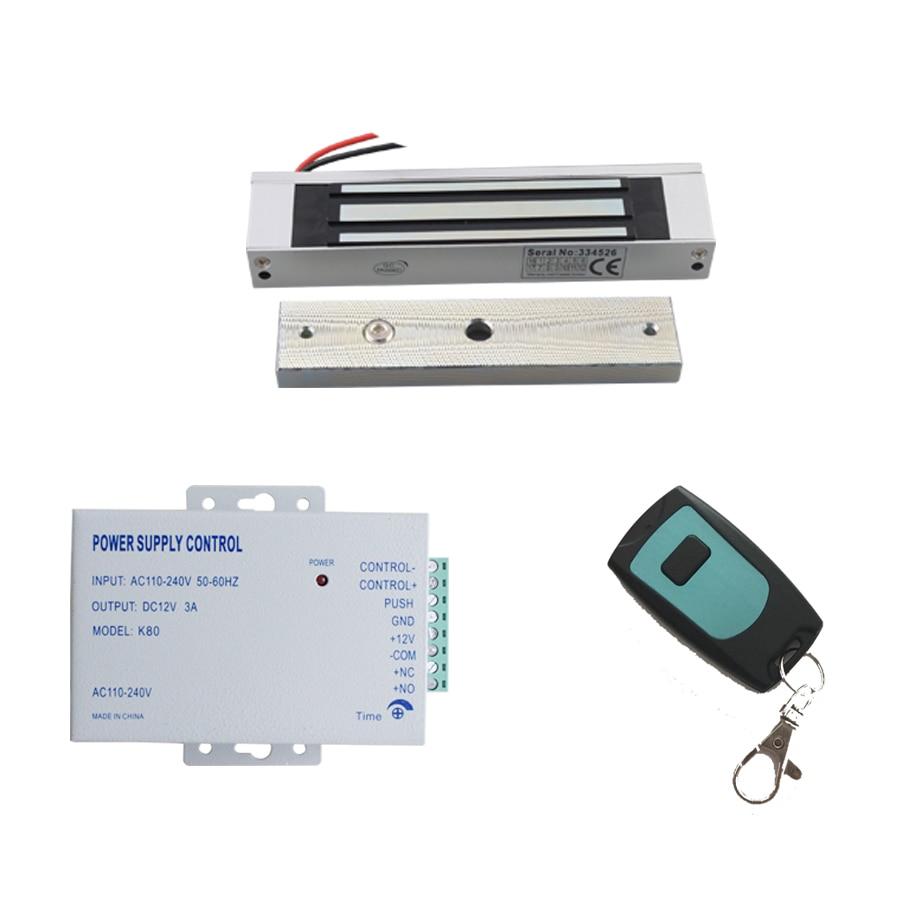 JEX DIY Access Control power +180kg Magentic lock+remote control Support access control systems Easy install