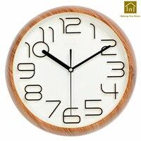 Fashion Simple Wall Clock Modern Design 3D Quartz Silent Wall Clocks Digital Decorative Reloj Pared Watch Klok Time Tool WKP136