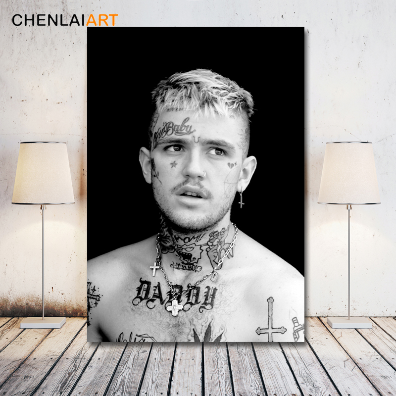 Lil Peep Music Raper Canvas Painting Modern Decorative Wall Pictures For Living Room Posters And Prints Art No Frame